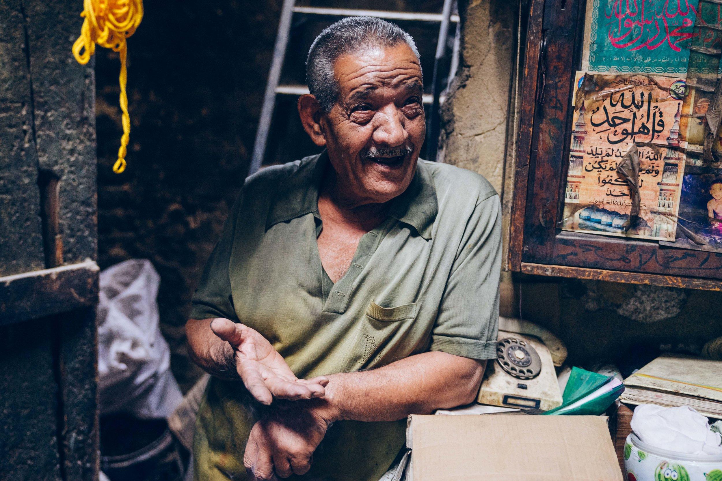 Salama Mahmoud's dye workshop