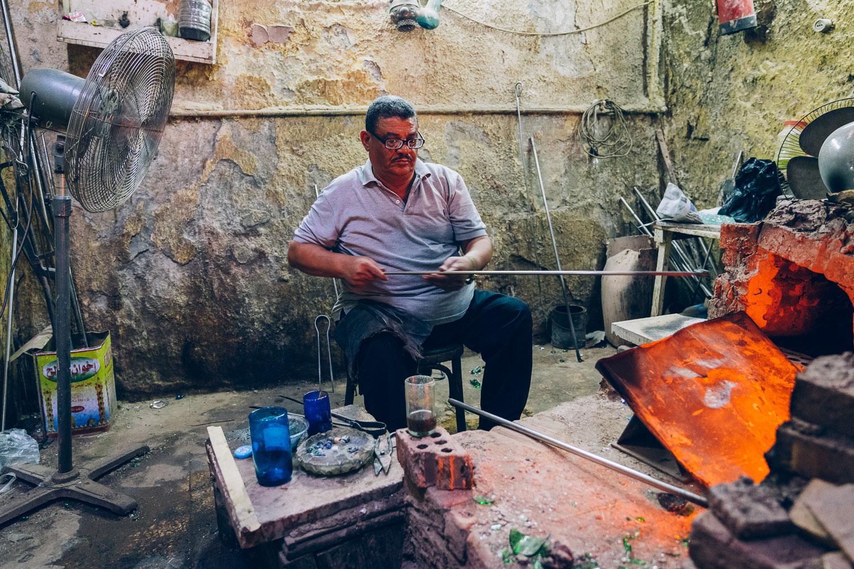 Hodhod's glassblowing workshop