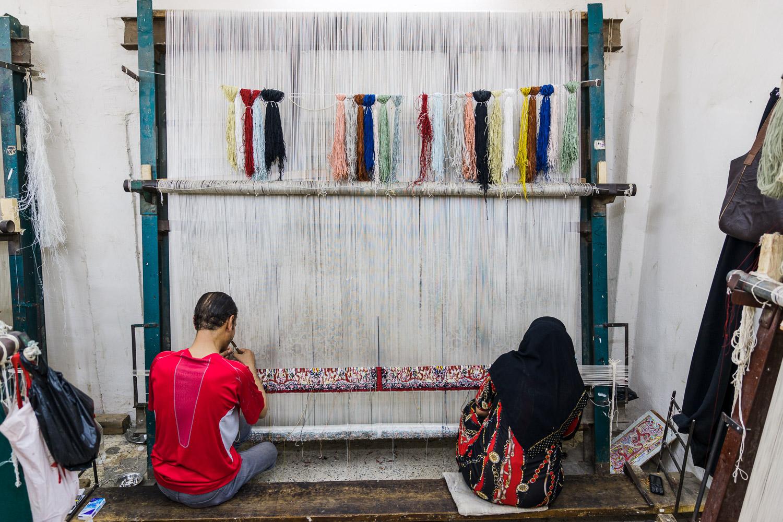 Hasan's carpet workshop