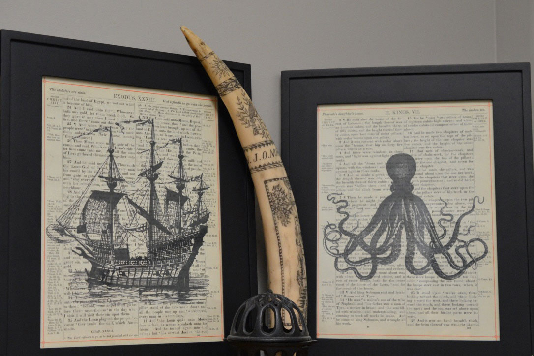 Ship and Octopus Print