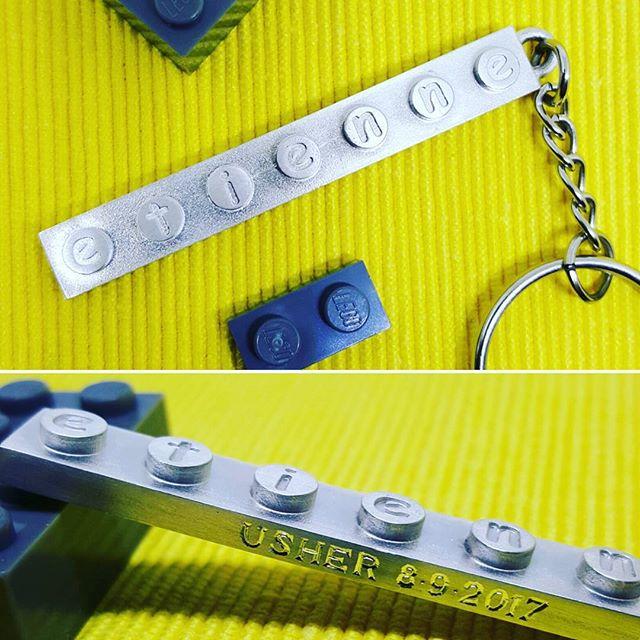 Personalised silver Lego brick keyring for a junior usher and Lego master 👌  #holebespoke #bespokejewellery  #madeinengland #craftmanship #finejewellery #jewellerydesigner  #caddesign #3dprinting  #bespoke #silver #keyring #keychain #lego #usher #handengraving #wedding