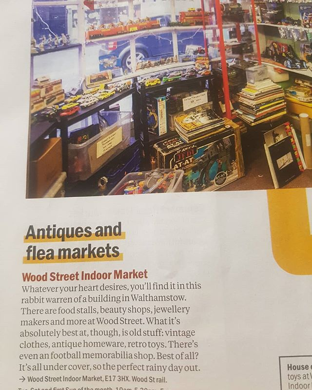 Thanks Time Out for your vote as one of the best markets in London. We may not be the biggest but have a lot to offer. #welovemarkets #timeout #woodstreet #woodstreetmarket #marketplace #indoormarket #vintage #retro #wool #artisan #beauty #sweetsshop #spiritual #vinyl #bikes #tacos #hairdresser #walthamstowparents #walthamforest