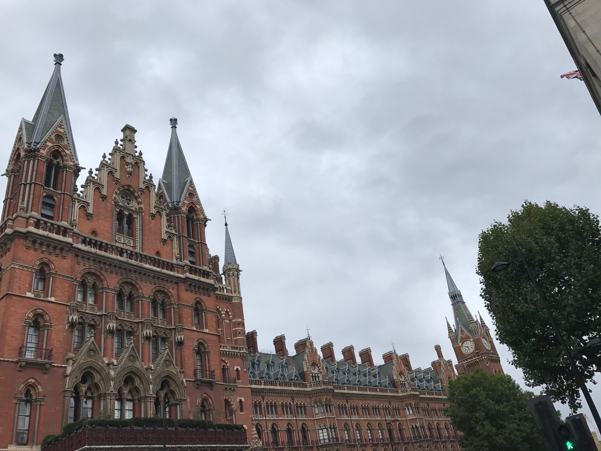 St. Pancras, a station by King's Cross I passed on my walk home.