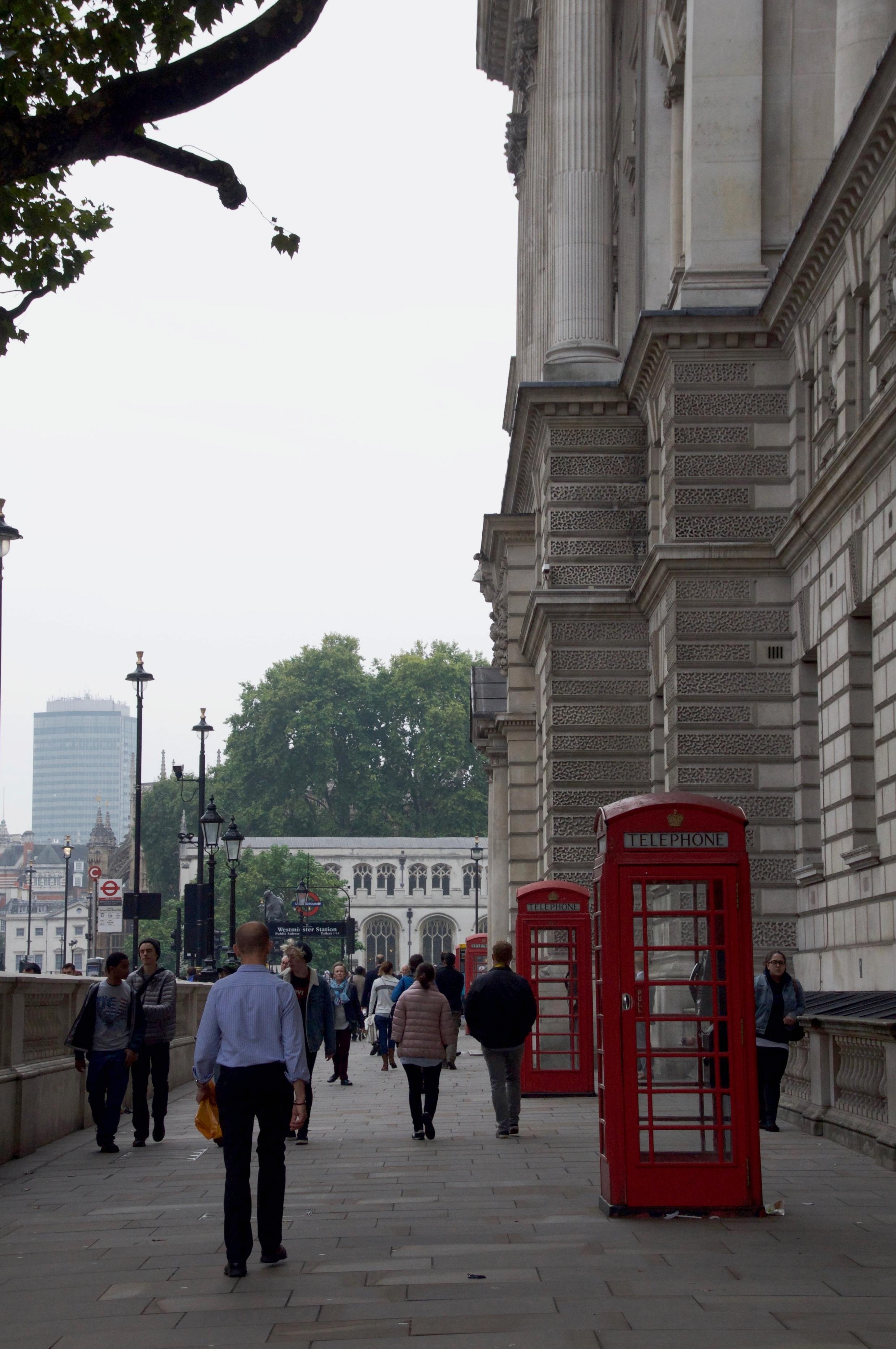 A street near Westminster Abbey.