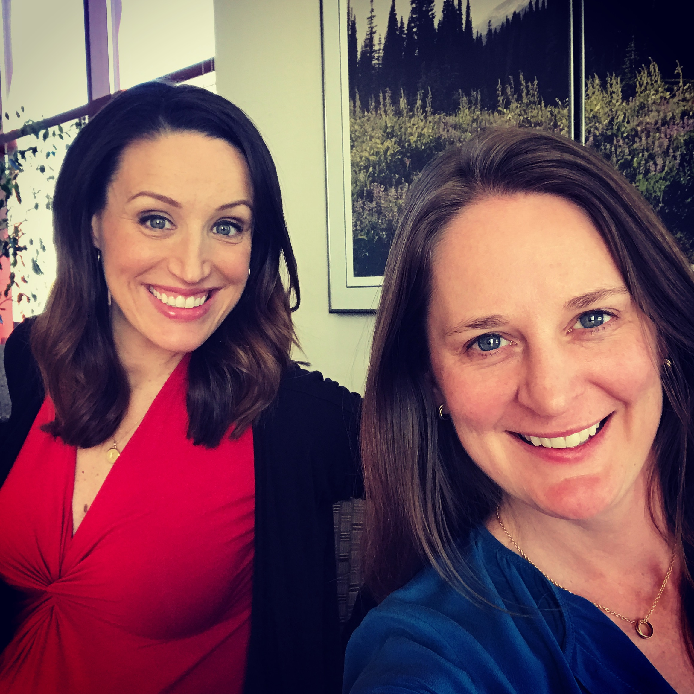 Q13Fox News Kaci Aitchison and I getting ready for the Facebook Live Q&A event