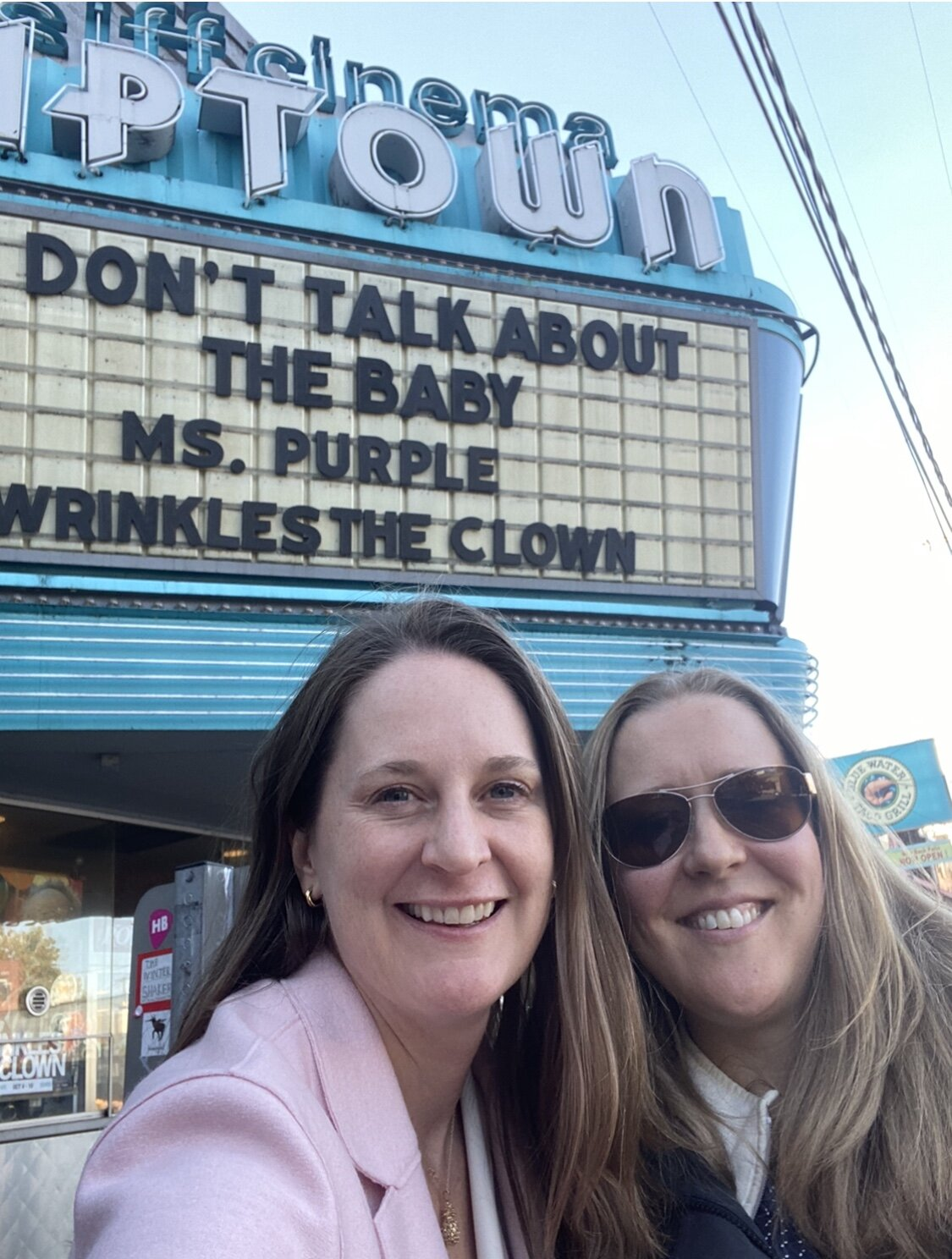 Ready for the screening with director and producer, Ann Zamudio.