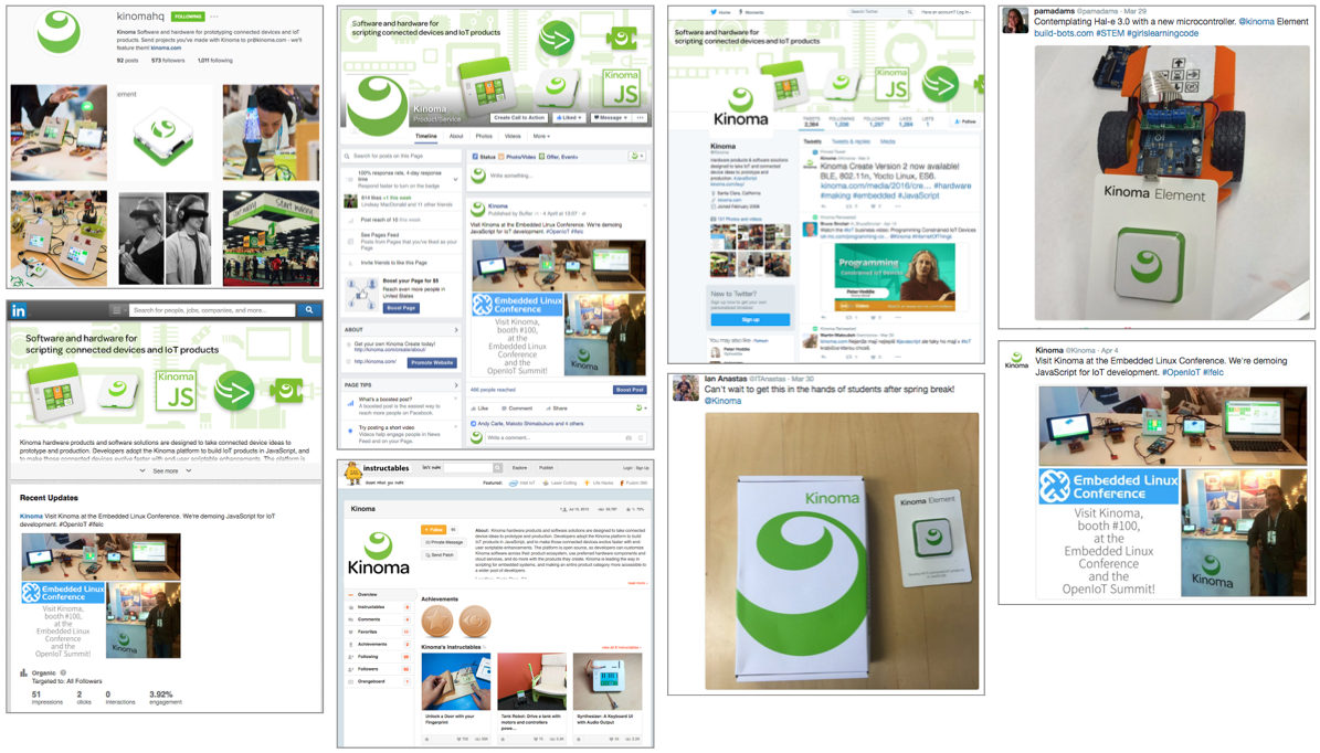 social media posts for kinoma while at marvell