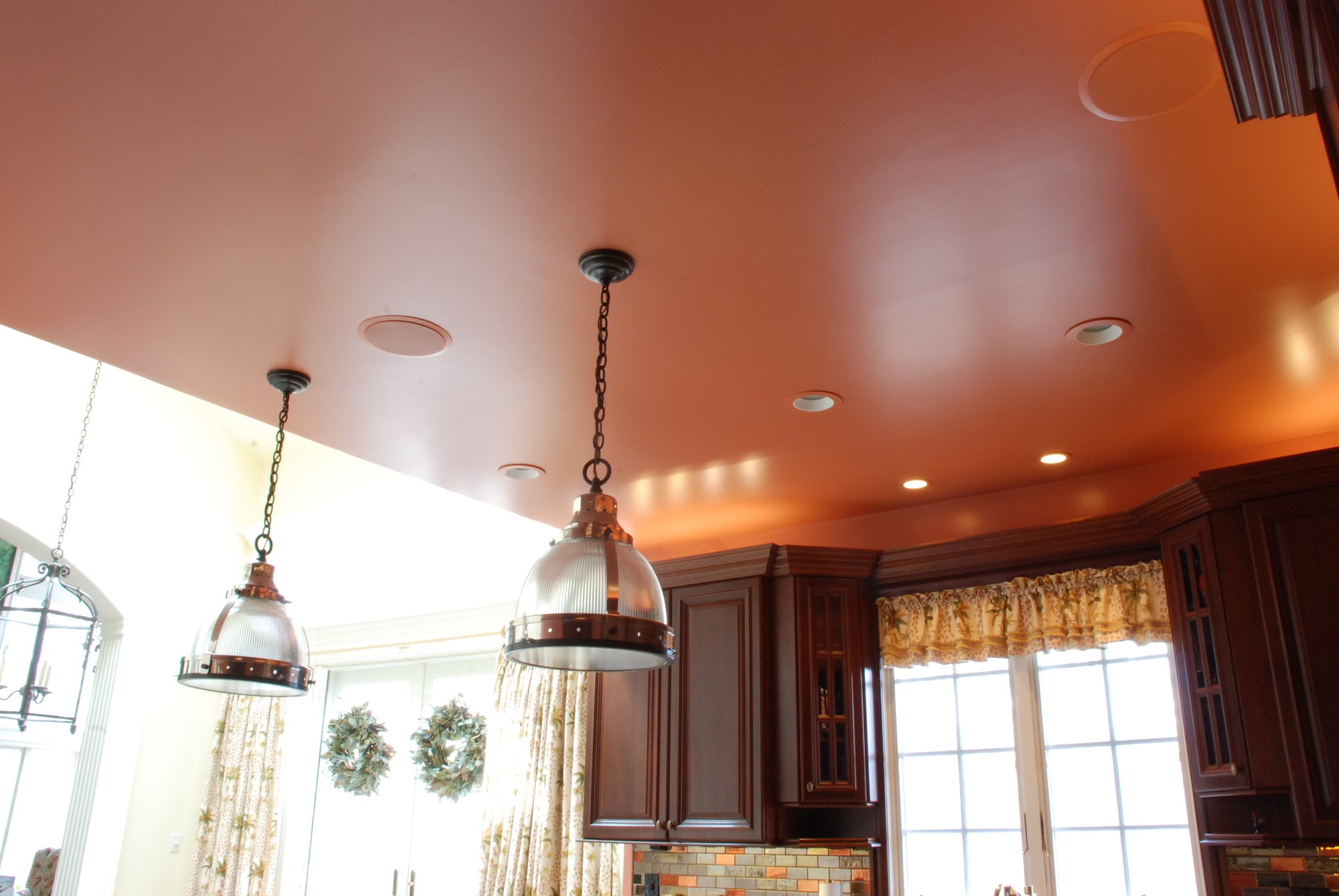 Satin walls, ceiling and trim by brush