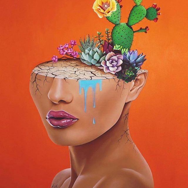 Money just changed everything I wonder how life without it would go From the concrete who knew that a flower would grow.  @suetsai is one of my favorite female painters btw. It's my goal to visit a gallery and purchase a piece for my house .