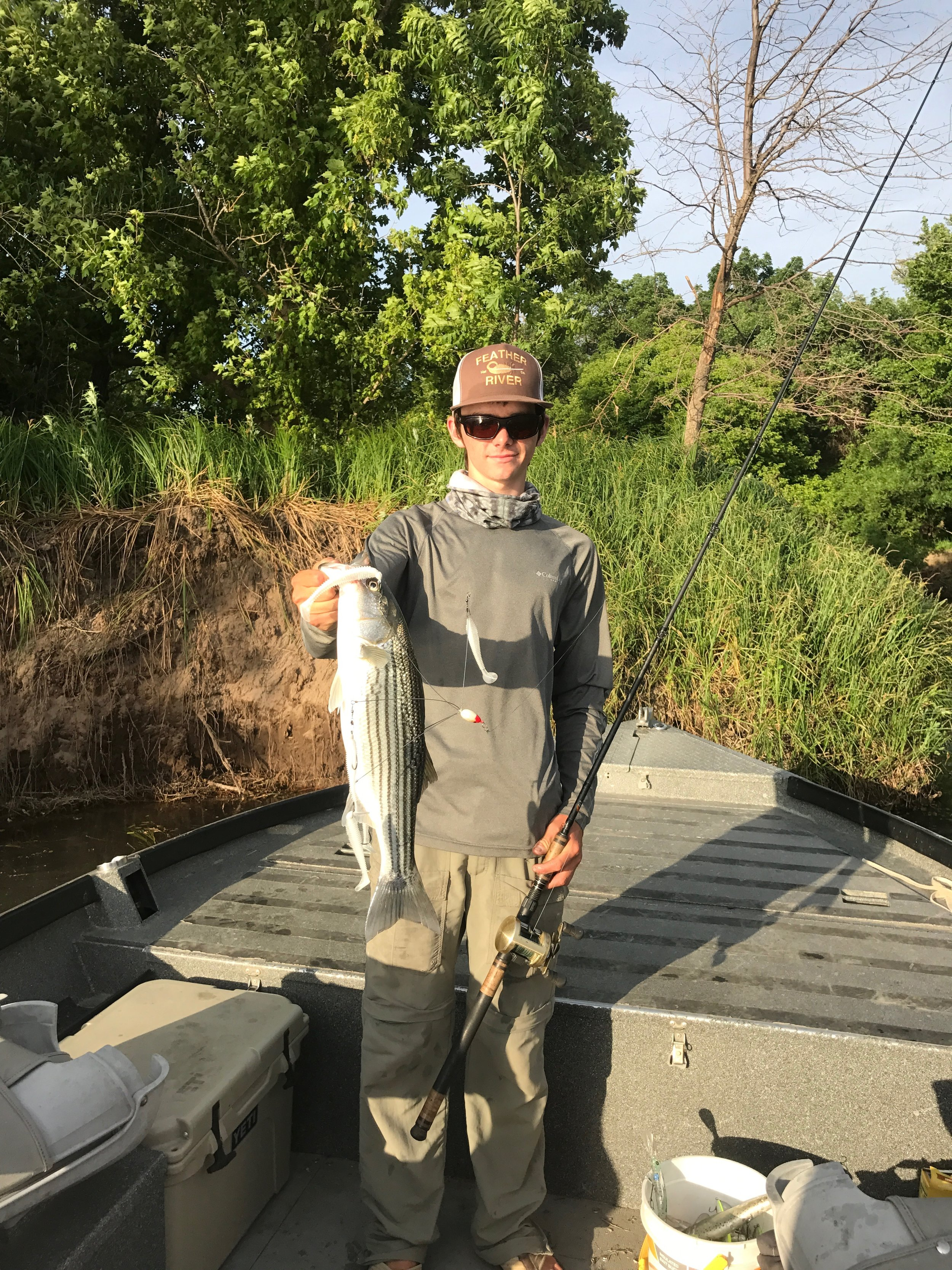 Ryan Tripp took a trip up the Sacramento River on May 24, 2017 to find decent action, catching grade size striped bass while chucking the Rig through shallow riffles and under power lines.