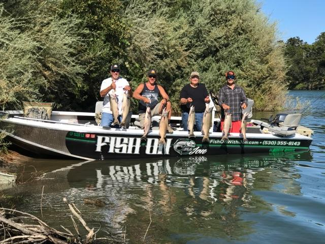 Boat limits for Jon Kenyon with 8 kings by 2:00pm on Sunday September 24, 2017 on the Sacramento River near Cottonwood, Ca.
