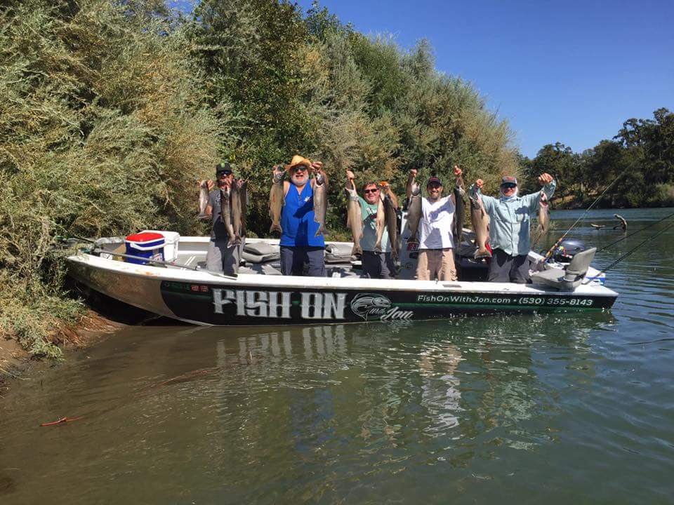 Thursday's boat limit picture from Jon Kenyon on the 28th of September 2017 on the Sacramento River near Cottonwood, Ca.