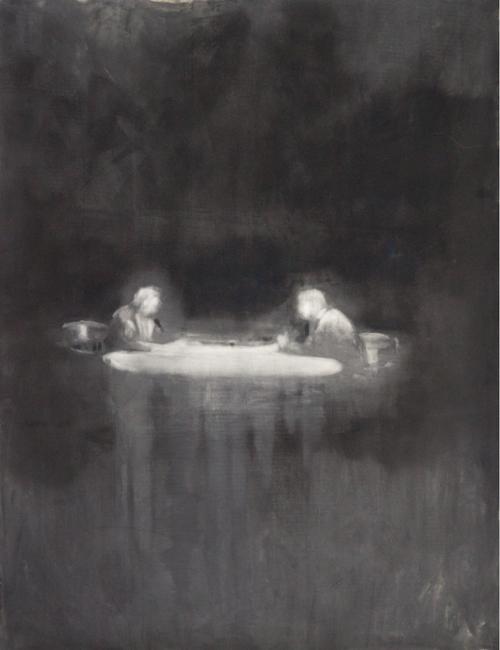 Talk, 2011, oil on paper, 127x98cm