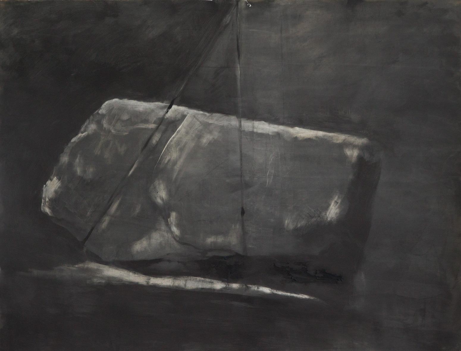Lift, 2011, oil on paper, 98x127cm
