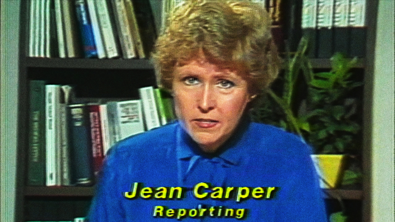 """Carper was CNN's first medical correspondent in 1980, winning an ACE award for a series on brain cancer. (Screenshot from """"Monster in the Mind,"""" Carper, J. Producer, 2017)"""