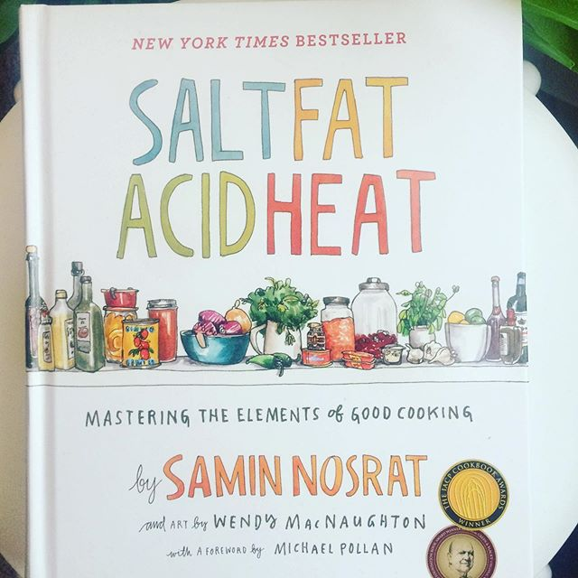 """Peace 🌱. If you're a fan of Netflix's 'Salt Fat Acid Heat' series then you'll truly enjoy the book. @ciaosamin is a beautiful genius. The book is so warm, inviting, funny, and full of insight. It's not a traditional cookbook with pages and pages of recipes; instead it teaches techniques as well as the """"why"""" behind them. It's an indispensable textbook, especially if you're looking to up your skills in the kitchen."""