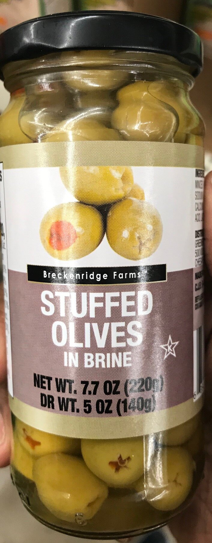 Keto-friendly snack at Dollar Tree - Stuffed Olives