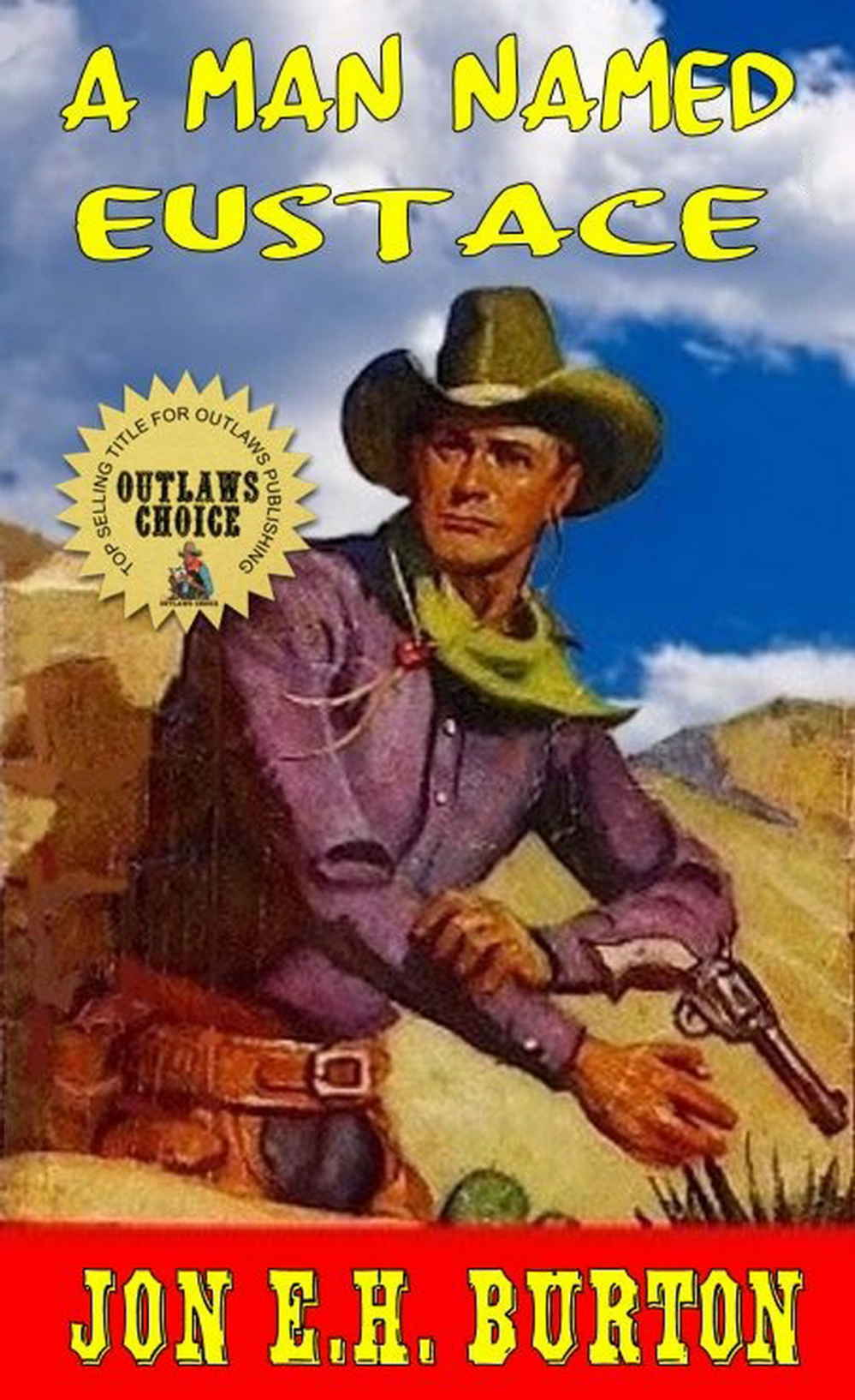 The debut western novella published by Outlaws Publishing: A Man Named Eustace follows famed gunslinger Callum Bane through the wild west on a hunt for a missing man before his wedding. Through scraps with drunks, thieves, and jaguars, Bane searches far and wide for the elusive man. Will he find him, or will time run out? If there's one thing Bane knows for sure, its that he always finds what he's looking for but never how he expects to.  Buy A Man Named Eustace today!