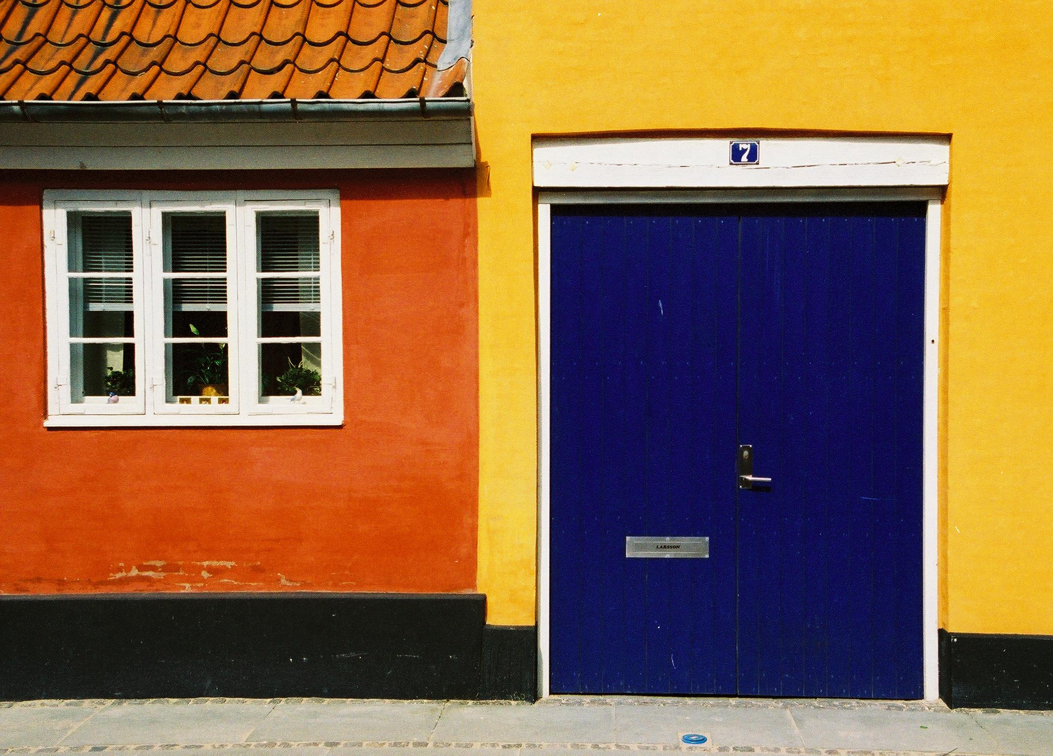Danish Doorway  Color Photograph Copyright Major Morris