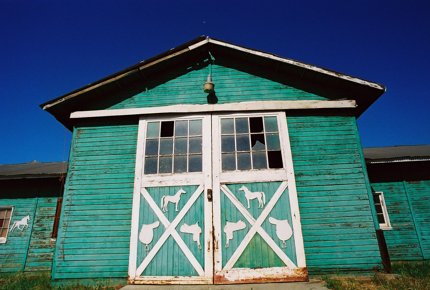Green Barn - Escondido Color Photograph Copyright Major Morris