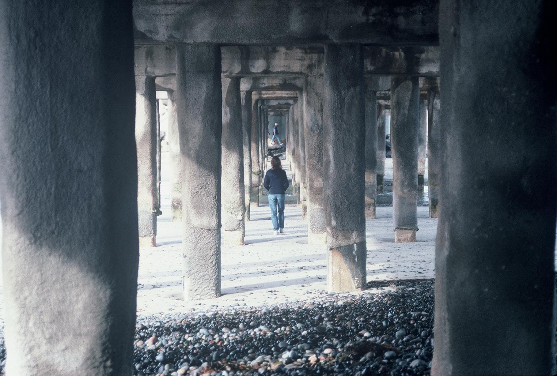 Under Oceanside Pier  Color Photograph Copyright Major Morris