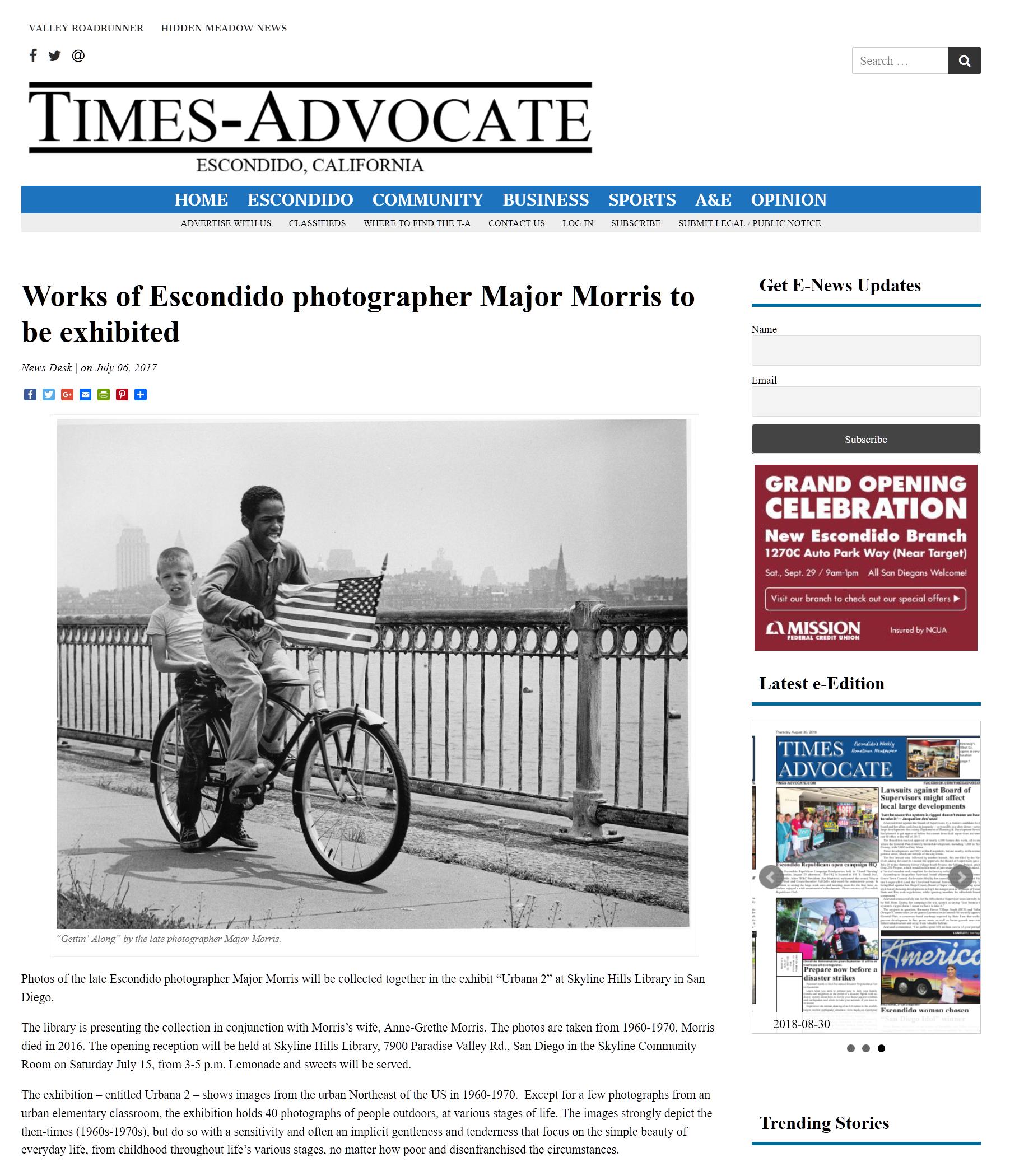 Screenshot_2018-09-19 Works of Escondido photographer Major Morris to be exhibited Escondido Times-Advocate.png