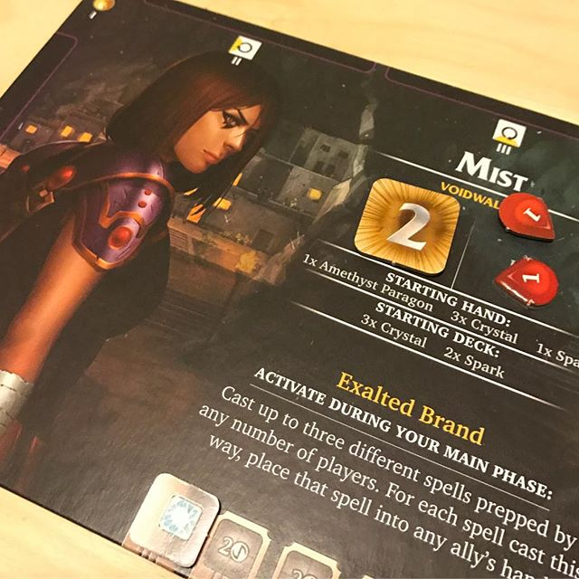 Got wrecked in Aeon's End last night. Fun fact: we went to college with the designer! #aeonsend #boardgames #bgg #tabletop #deckbuilders