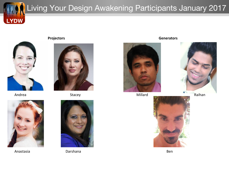 February Living Your Design Participants