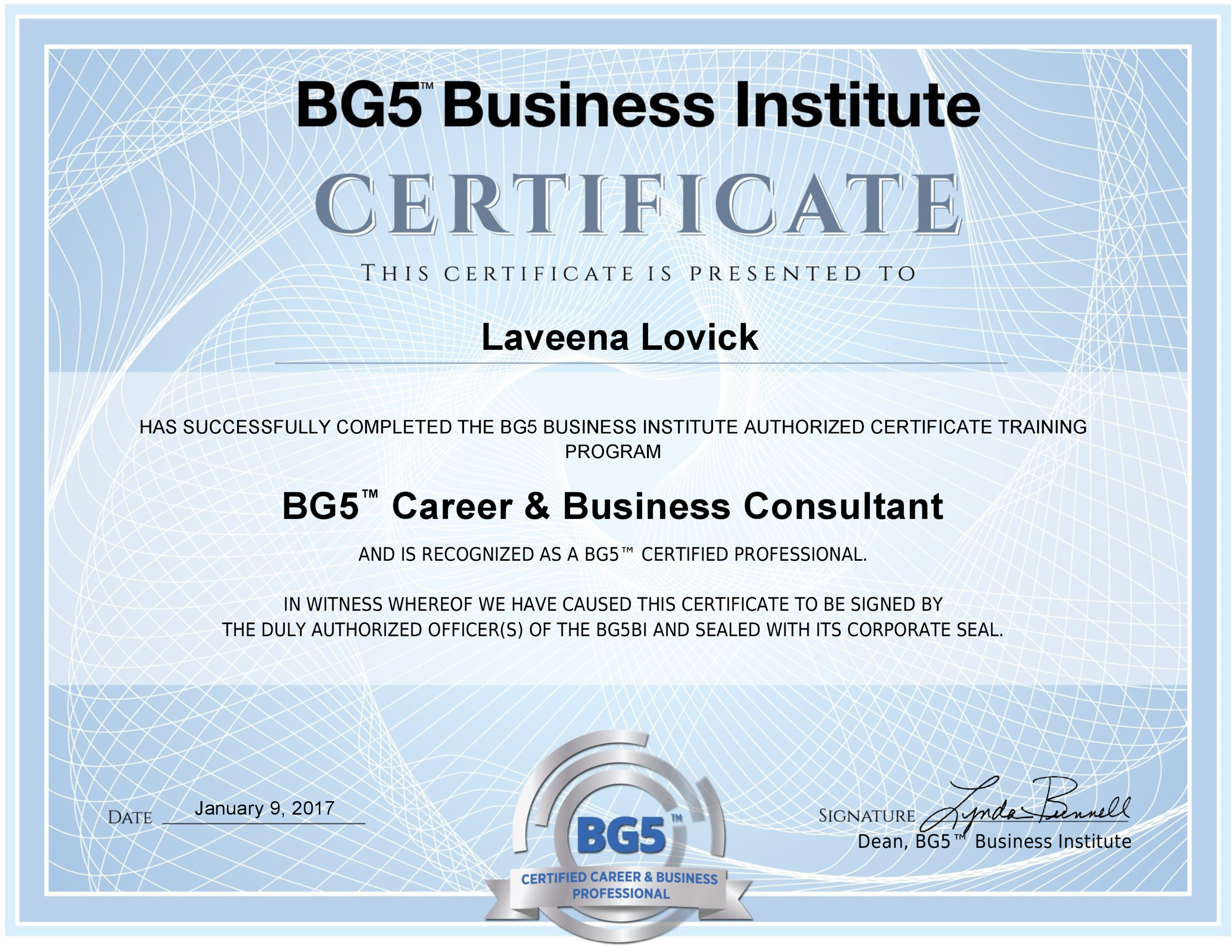 BG5 Career and Business Consultant Certification