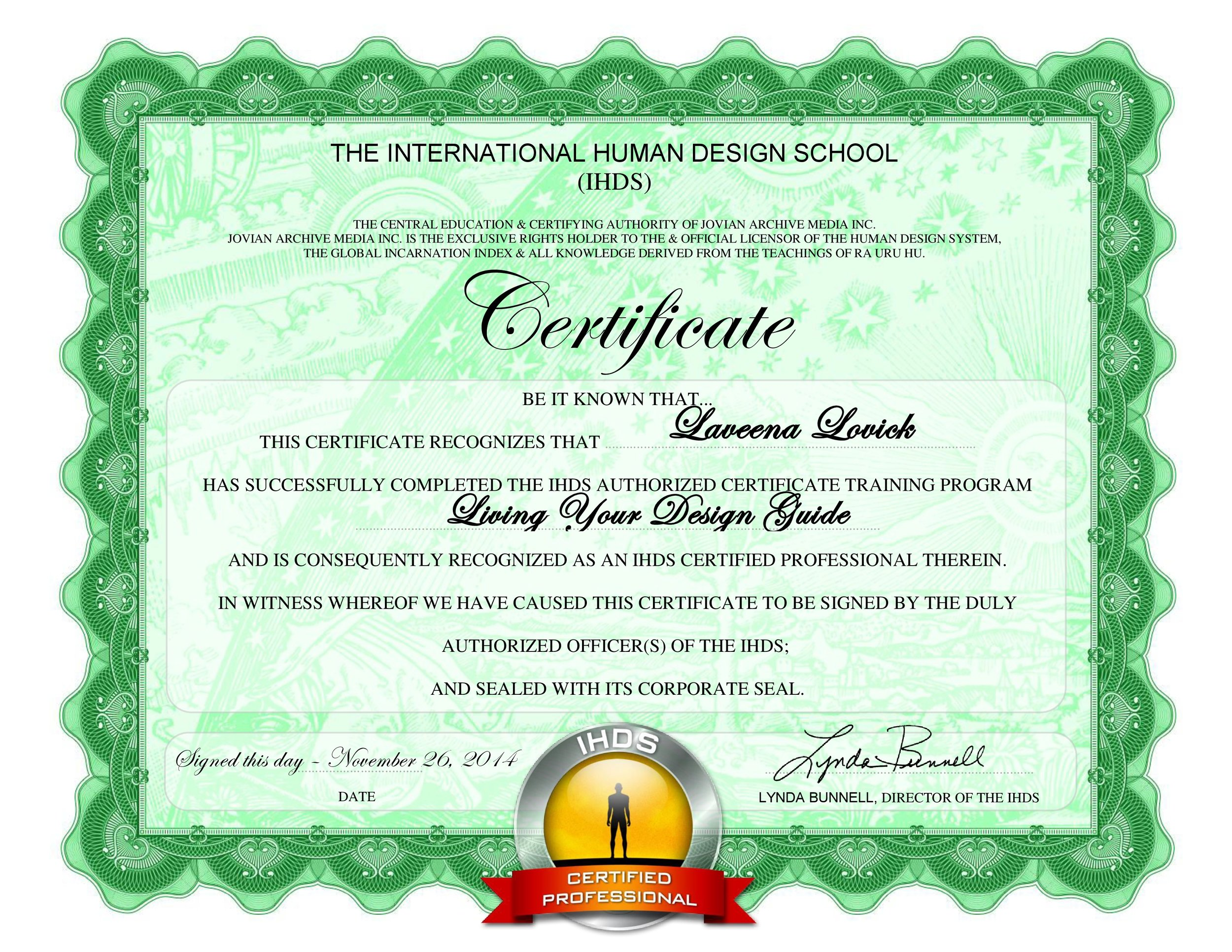 Laveena Lovick Living Your Design Guide Certification