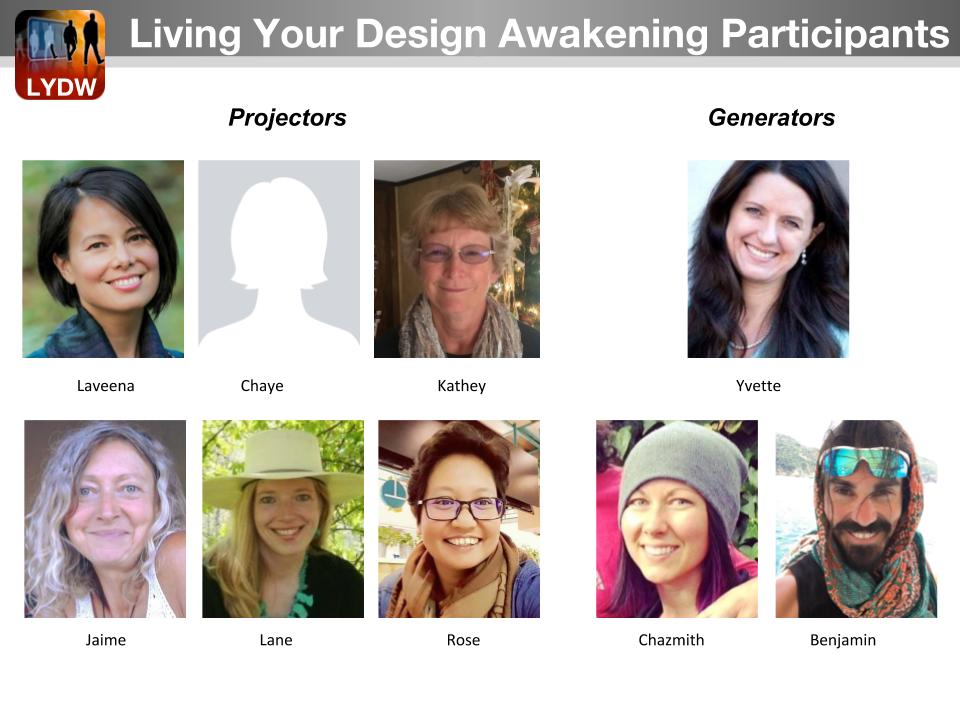 Living Your Design Awakening Students