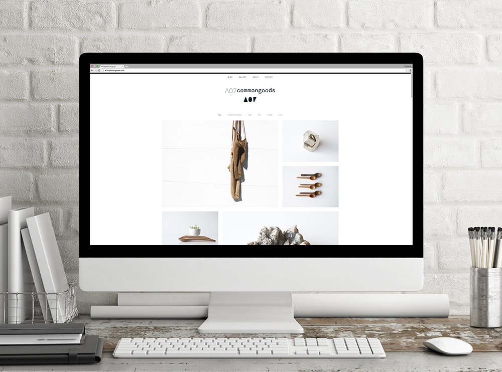 Online store landing page.