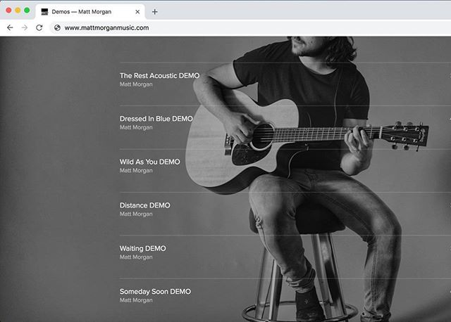 """I decided to upload some demos today 😬... I want to actually record and release an album soon, buuuut in the meantime, I've just been self-recording some demos and I decided to share some of those, so they are up on my website now!  If you go to www.mattmorganmusic.com look for the """"Music"""" tab and click on """"Demos"""". **Apparently if you right click, you can """"download linked file"""" and save these songs to your device 😁 free music anyone? Haha"""