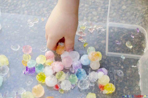 SOURCE:http://busytoddler.com/2016/04/frozen-water-beads/