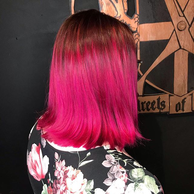 Pretty in Pink 💞 . . Pre-lightened balayage followed by the all over pink color, all done by our top stylist Rhuby! . #pinkhair #balayage #creativecolor #fashioncolor #streetsoflondonsalon #chicago