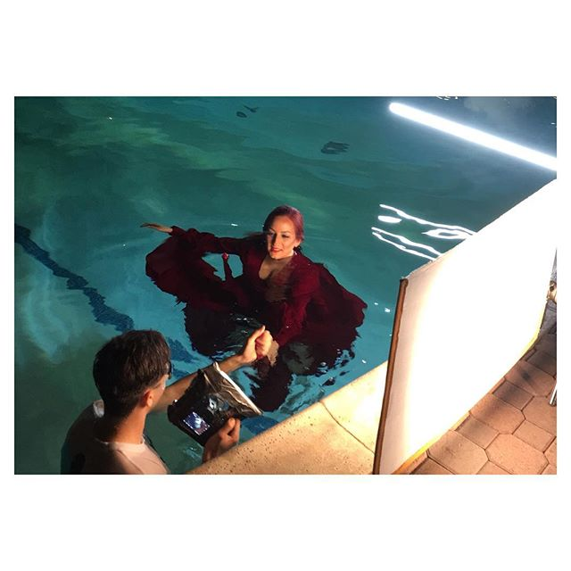 Making music videos is FUN! Let's do more !! 👊🏼 #fbf #blackout #music #video #comingsoon #water #mermaid #symbol #cinematic #new #dancing #actress #daniivory #waterproof #makeupforever #urbandecay