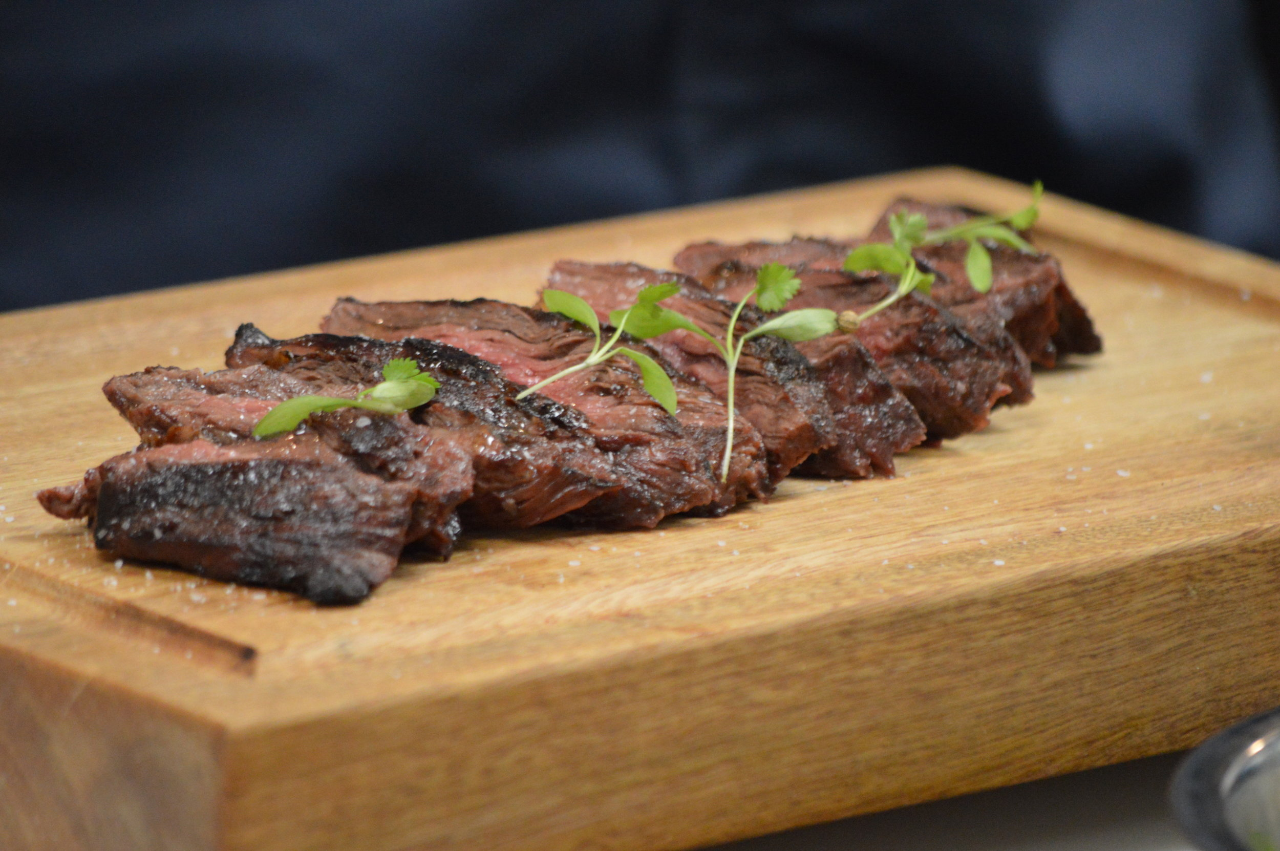 "Grilled Beef ""Hanger"" Steak"