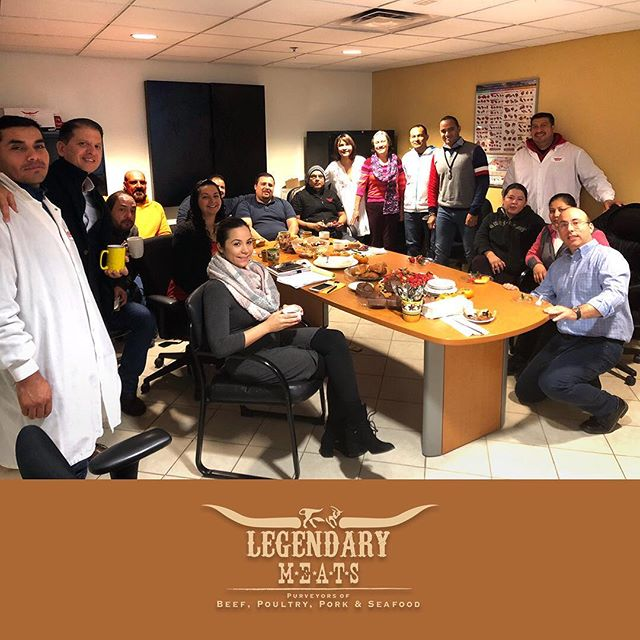 Group photo at our teamwork meeting today! As we approach the holiday season,LEGENDARY MEATS pledges top-level service to our customers and potential customers. Consider us your source for custom cut and custom flavored meats, poultry, seafood, cheese, drinks and restaurant supplies. www.LegendaryMeats.com | 678 403 3800 . . #teamwork #holidayseason #fall #thanksgiving #commitment #service #customcutmeats #customflavor #flavorprofile #holidays #marietta #customerservice #ourteam #readytoserve #southeastusa #atlanta #chef #restaurant #butcher #howweroll @legendarymeatsllc @henaojua @christosgiannes
