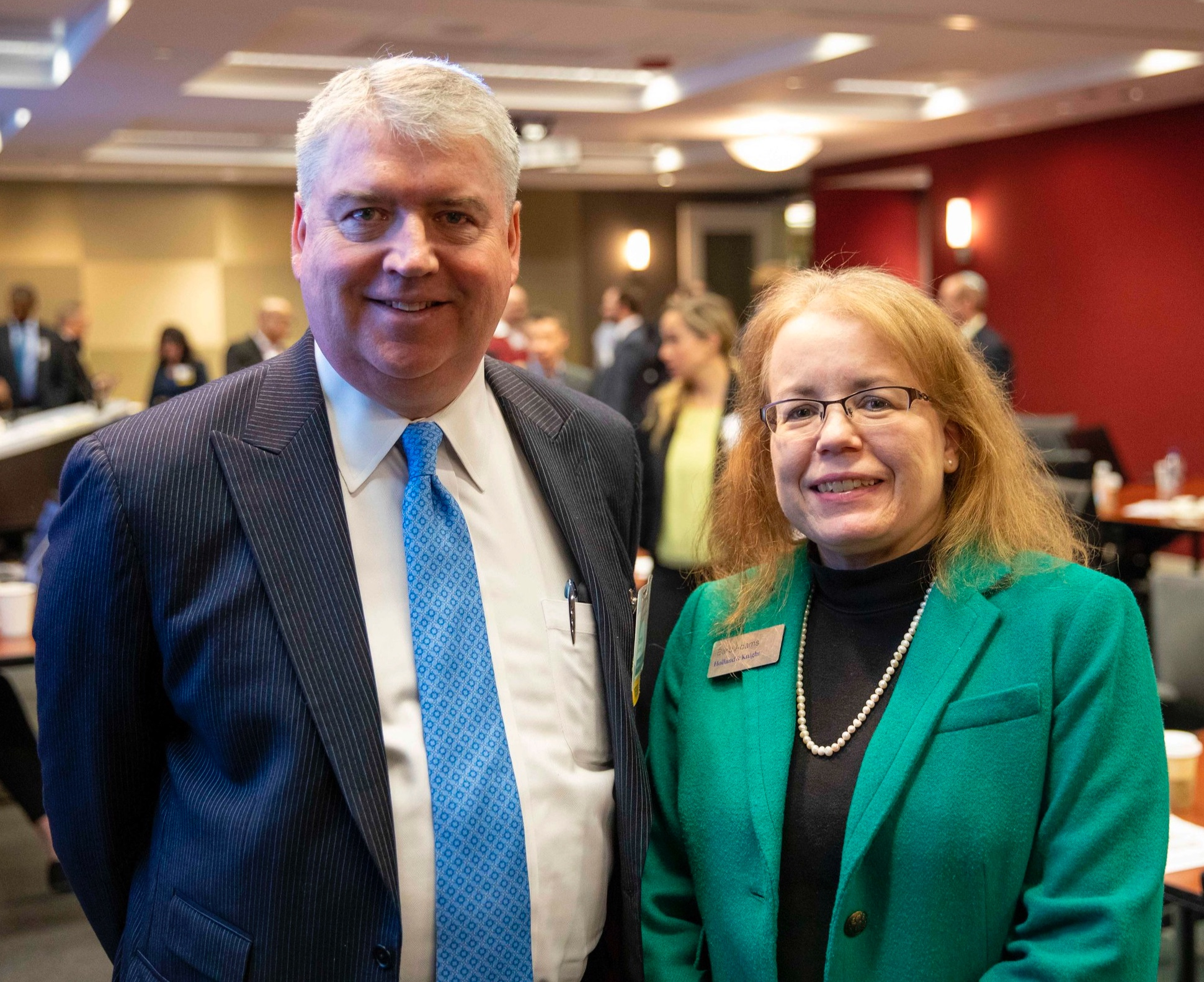 Steve Humes and Barbara Adams, Holland & Knight, AEG's Host Stakeholder