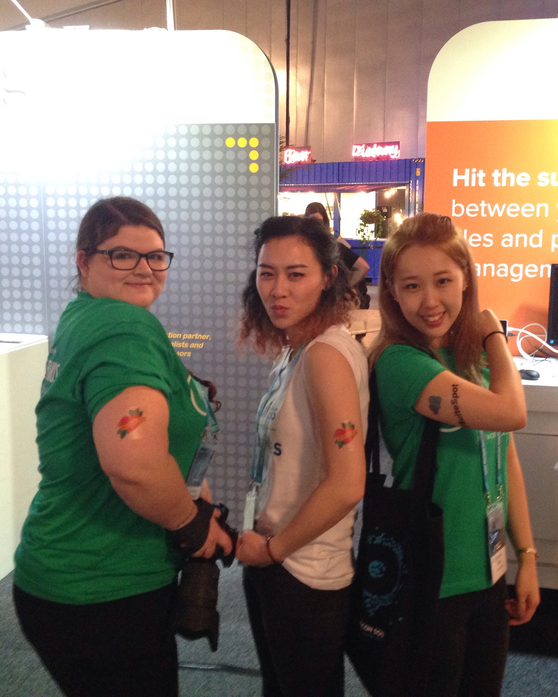 Getting some Suite tattoos with Hanna and Samara from  Consolid8