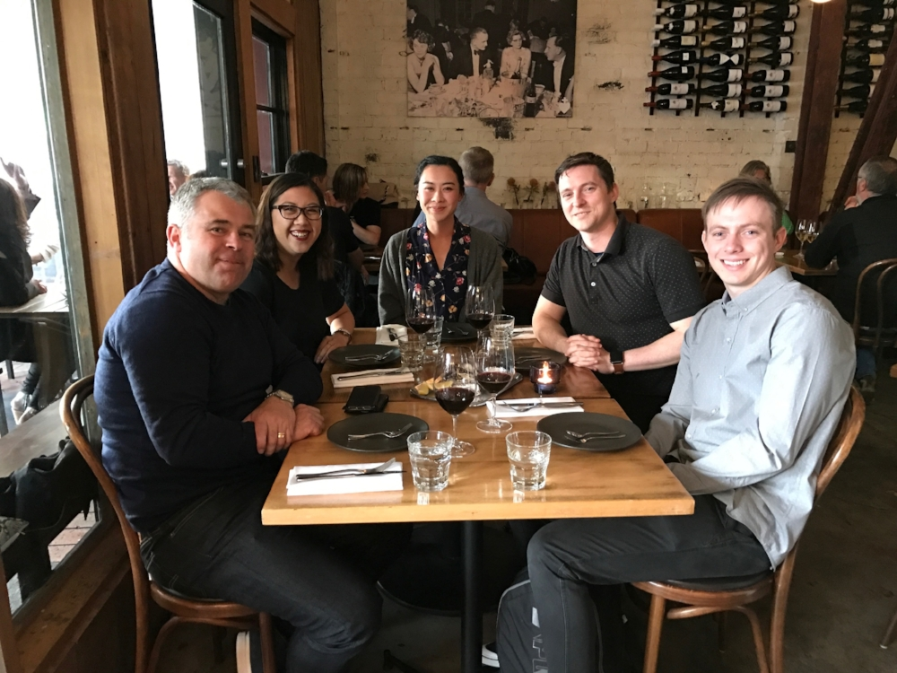 Wining and dining - The SuiteFiles team at our Christmas dinner