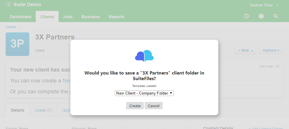 create new client folder prompt xpm.png
