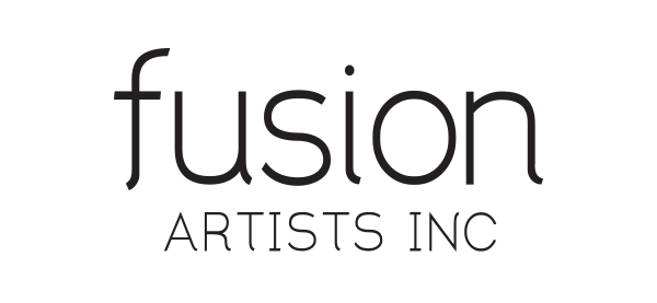 Logo and brand design for Fusion Artists by Bonnie Summerfeldt