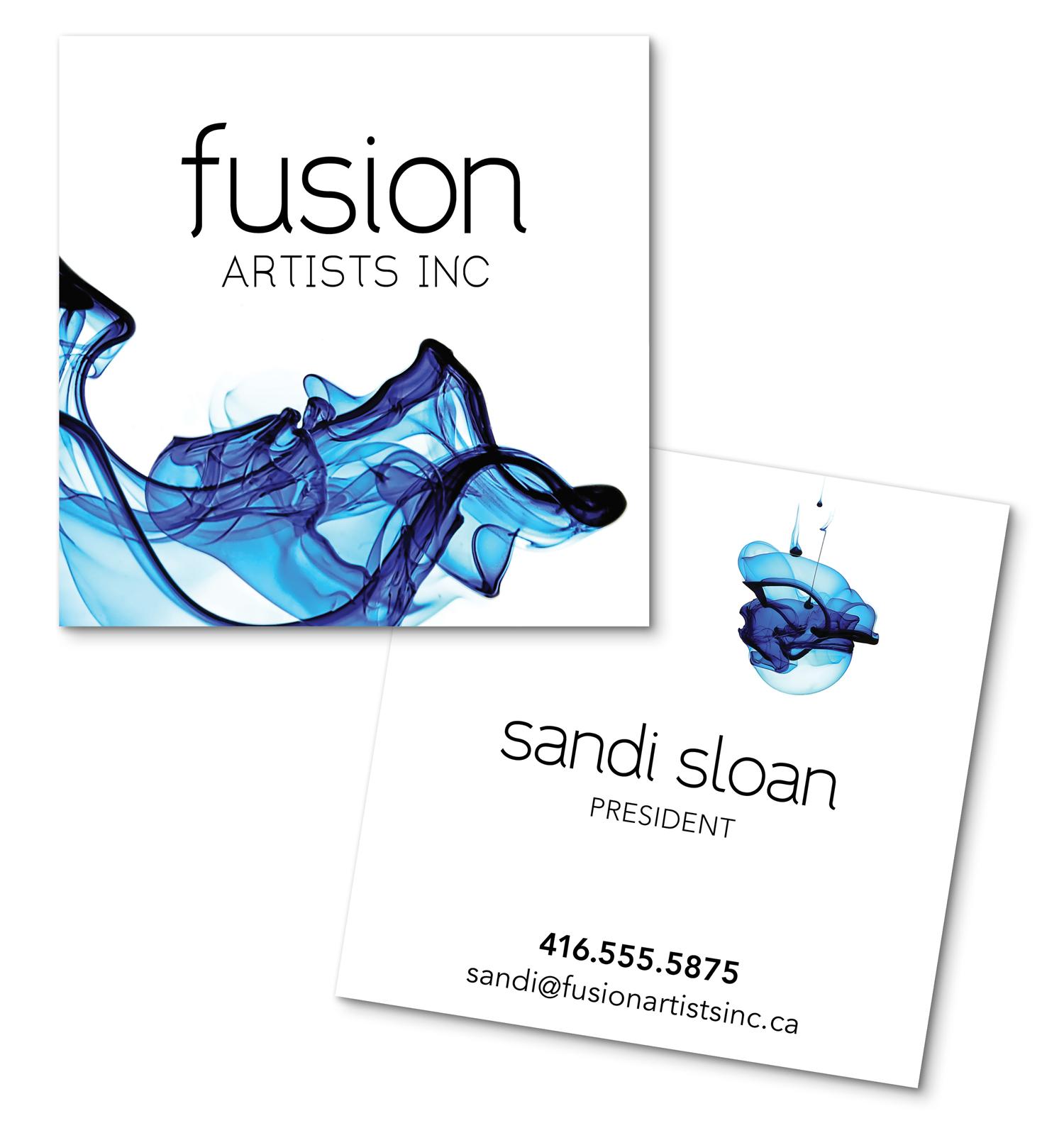 Brand identity design for Fusion Artists Inc by Bonnie Summerfeldt Design