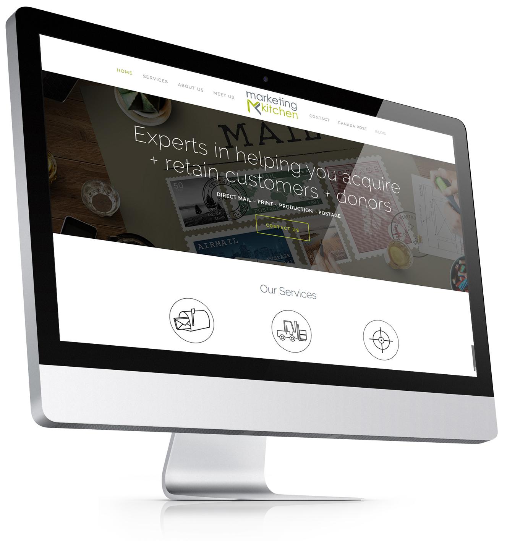 Marketing Kitchen small business website design for Squarespace by Bonnie Summerfeldt Design