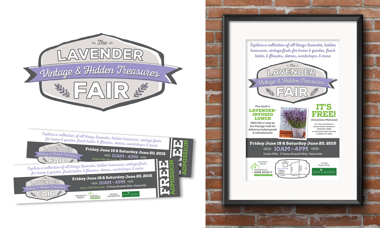 Event logo and brand design for The Lavender Fair