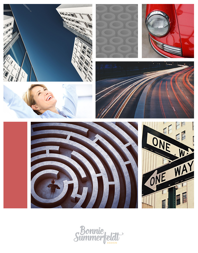 Moodboard for Gadsby Technologies to show the look and feel of her new branding. Her clients come to her with frustration dealing with complicated Oracle software and are looking for solutions.