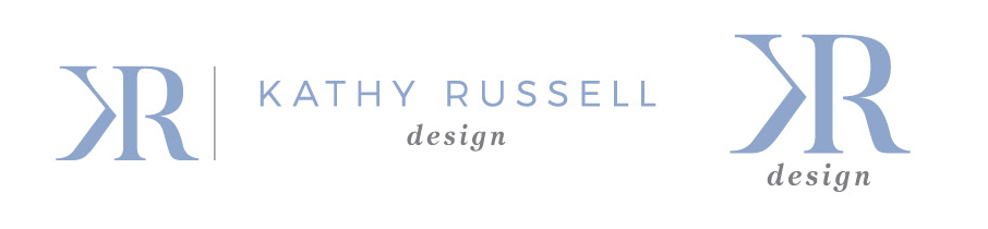 Alternate logos for Kathy Russell Design - interior decorator and stylist in Newmarket, Ontario