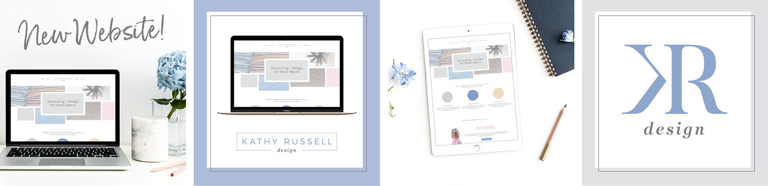 Instagram launch graphics to promote the new business launch and website design for Kathy Russell.