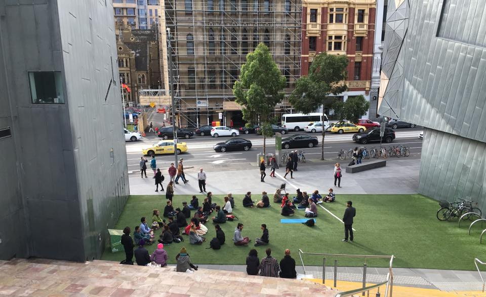 First Melbourne Eye Gazing Event in Federation Square.